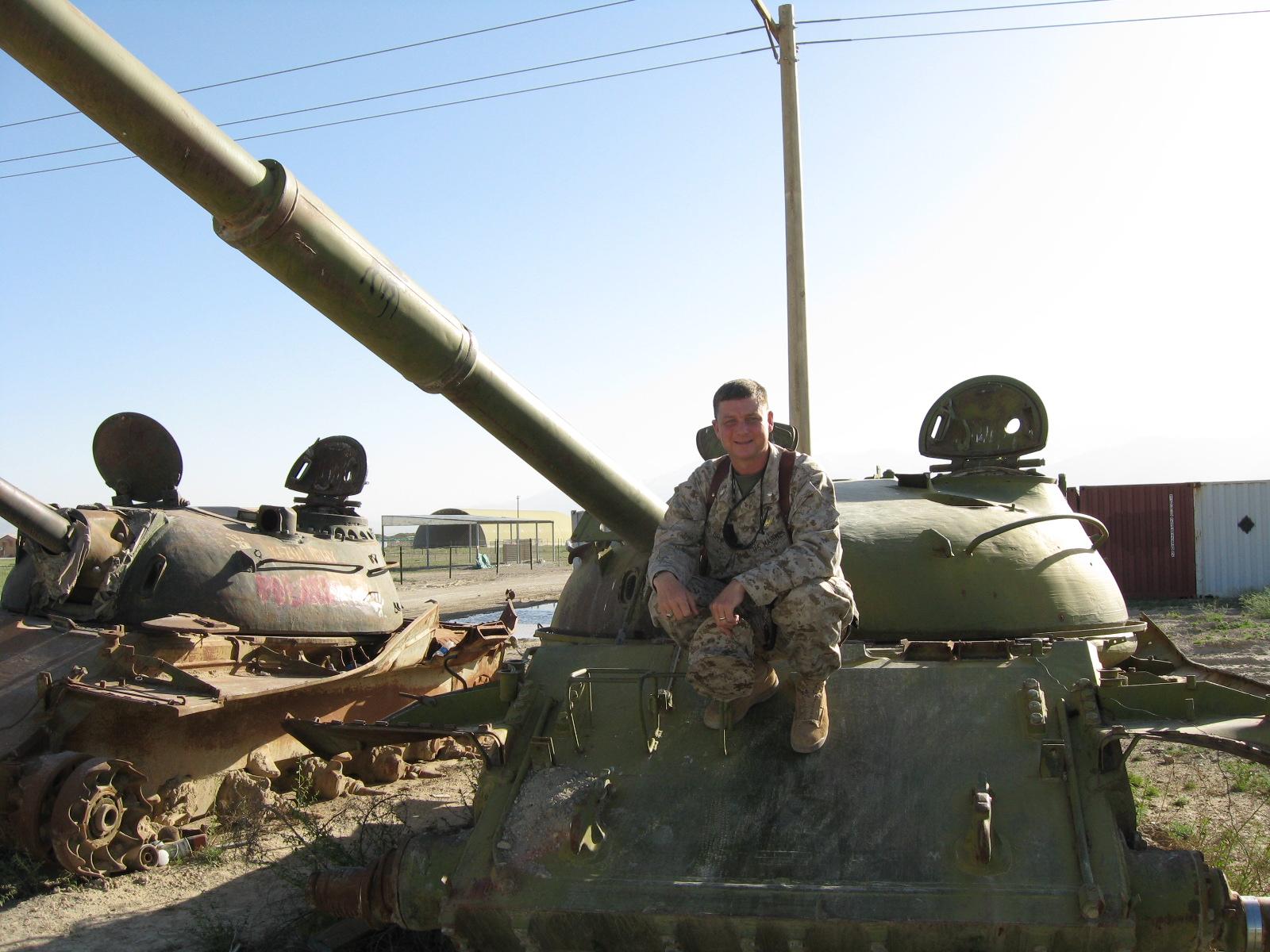 old Russian tank