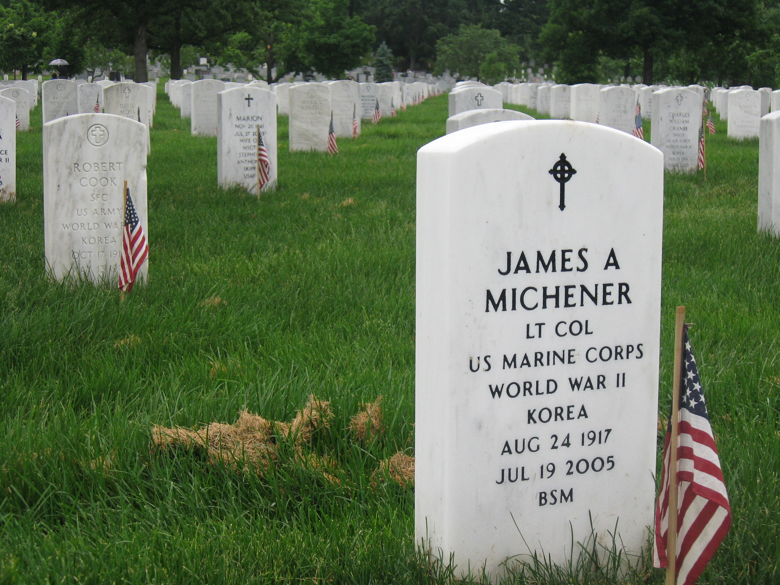 James A Michner, Arlington VA. I have a great friend, a former Sgt in the ...
